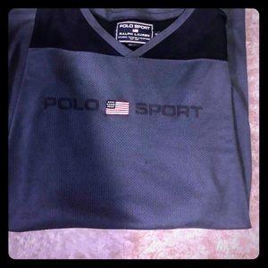 Polo sport shirt long sleeve